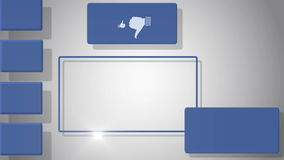Vidéo d'écran vide avec des symboles sociaux de media illustration stock