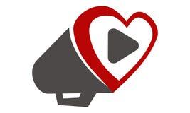 Vidéo d'amour de mégaphone illustration de vecteur