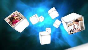 Vidéo d'une salle de classe sur le flottement de cubes clips vidéos