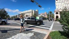 Vidéo de Coral Gables Cityscape Time Lapse banque de vidéos