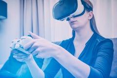 Vidéo de jeu de jeu de jeu sur la TV ou le moniteur Concept de Gamer Photographie stock
