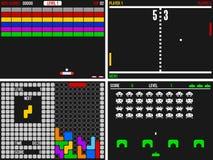 vidéo de jeux électroniques vieux Photos libres de droits