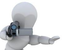 vidéo de l'appareil-photo 3d illustration de vecteur