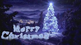 Vidéo de Noël pour les vacances 2017 illustration libre de droits