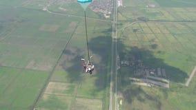 Vidéo de parachutisme banque de vidéos