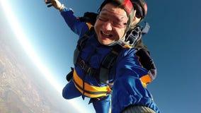 Vidéo de parachutisme tandem banque de vidéos