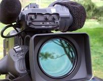 vidéo de professionnel d'appareil-photo Images libres de droits
