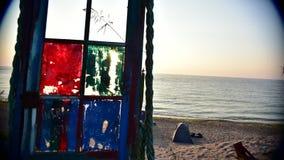Vidéo de Timelapse d'un lever de soleil sur le bord de la mer de la Roumanie banque de vidéos