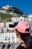 Vidéo de touristes de tir photographie stock libre de droits