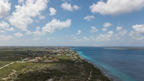 Vidéo des Caraïbes de lagune de côte d'île de Bonaire Images stock