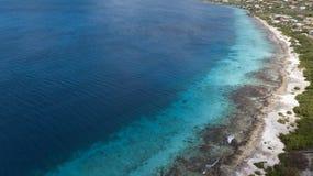 Vidéo des Caraïbes de lagune de côte d'île de Bonaire Image libre de droits