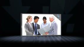 Vidéo des gens d'affaires de parler banque de vidéos