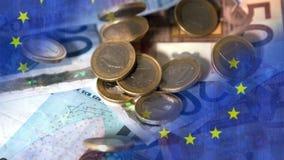 Vidéo en baisse d'euros clips vidéos