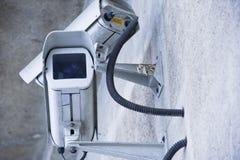 Vidéo et caméra de sécurité urbains Photo stock
