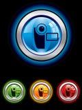 vidéo lustré de bouton Image stock
