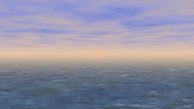Vidéo sans couture de boucle de mer de coucher du soleil clips vidéos
