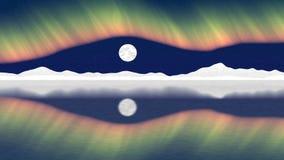 Vidéo sans couture de boucle de poteau arctique illustration libre de droits