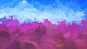 Vidéo sans couture souillée animée de boucle de fond - couleurs de pourpre de lavande et de bleu de ciel