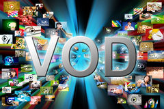 Vidéo sur demande image stock