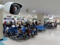 Vidéo surveillance de plan rapproché ou télévision en circuit fermé de sécurité photographie stock libre de droits