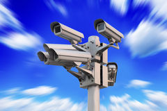 Vidéo surveillance de sécurité Images libres de droits