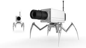 Vidéo surveillance sur les pattes illustration de vecteur