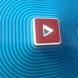 Vidéo, symbole audio de jeu, bouton, signe coloré rendu 3d illustration stock