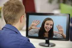 Vidéoconférence Images libres de droits