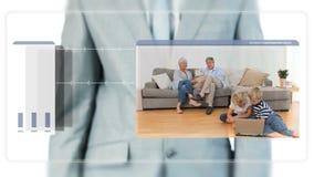 Vidéos de déplacement d'homme d'affaires au sujet des aînés banque de vidéos