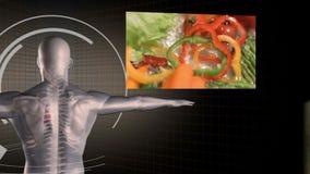 Vidéos de la consommation saine avec un homme digitalement créé clips vidéos
