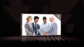 Vidéos de parler d'équipe d'affaires banque de vidéos