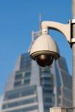 Vidéos surveillance avec le backgrou d'immeuble de bureaux Images stock