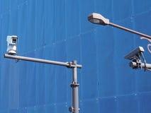 Vidéos surveillance de degré de sécurité de télévision en circuit fermé dans la ville photo stock