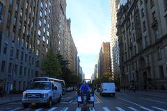 Vid Dayton Road i NYC fotografering för bildbyråer