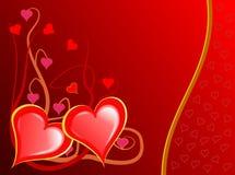 Vid de los corazones de las tarjetas del día de San Valentín Fotos de archivo libres de regalías