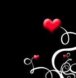 Vid del corazón de la tarjeta del día de San Valentín Imagen de archivo libre de regalías