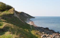 Vid kusten av Funen arkivfoton