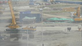Vid?o de Timelapse de chantier de construction dans le d?but d'?tablir le nouveau programme de construction de logements Travaill clips vidéos