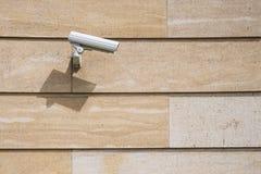 Vid?o surveillance sur le mur image stock
