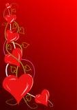 Vid roja de los corazones stock de ilustración