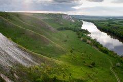 Vid sidan av floden Arkivfoto