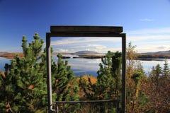 Vid Thingvallavatn i Island Arkivfoto