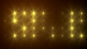 VID - Wall Of Lights IV Royalty Free Stock Images