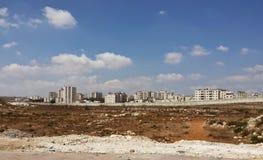 Vida áspera: Ramallah atrás da parede Fotografia de Stock Royalty Free