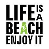 A vida é uma praia ilustração stock