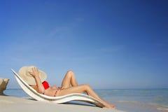 A vida é uma praia Imagens de Stock