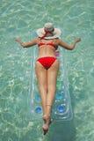 A vida é uma praia (Lilo) Imagens de Stock