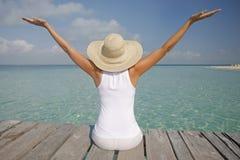 A vida é uma praia (o molhe) Imagens de Stock