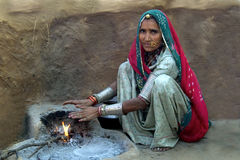 Vida 3 da vila de Rajasthani Fotografia de Stock