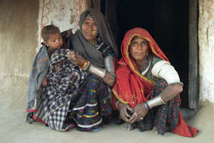 Vida 6 da vila de Rajasthani Fotos de Stock Royalty Free